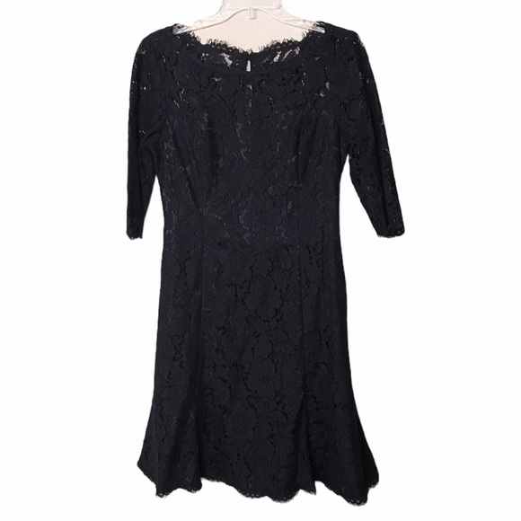ELIZA J Lace Tulip Dress Black Sz 8
